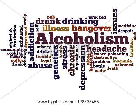 Alcoholism, Word Cloud Concept 3