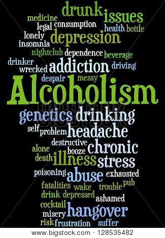 Alcoholism, Word Cloud Concept 5
