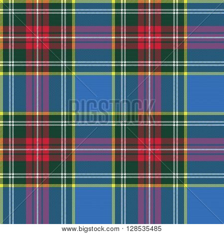 macbeth tartan kilt fabric textile pattern seamless.Vector illustration. EPS 10. No transparency. No gradients.