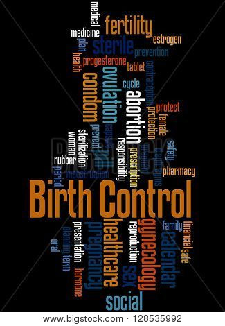 Birth Control, Word Cloud Concept 2