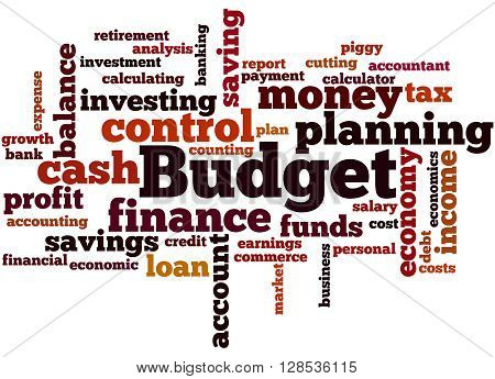 Budget, Word Cloud Concept