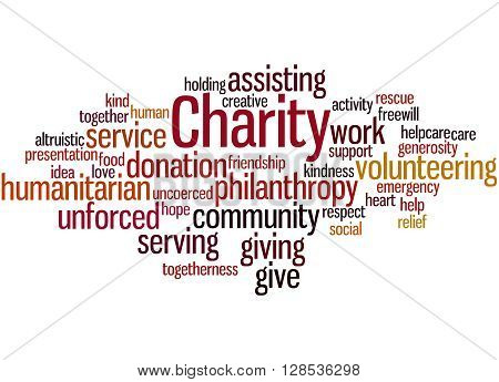 Charity, Word Cloud Concept 10