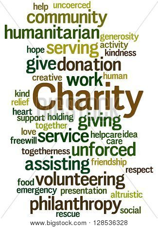 Charity, Word Cloud Concept 11
