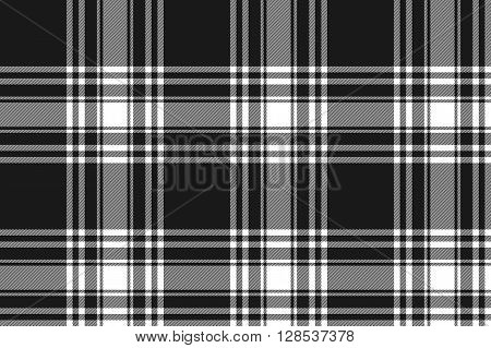 Menzies tartan black kilt fabric texture seamless pattern .Vector illustration. EPS 10. No transparency. No gradients.
