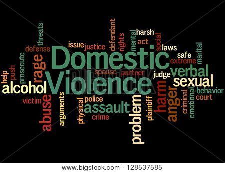 Domestic Violence, Word Cloud Concept 5