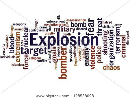 Explosion, Word Cloud Concept 6