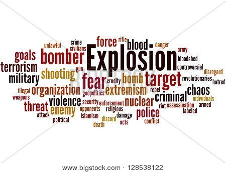 Explosion, Word Cloud Concept 8