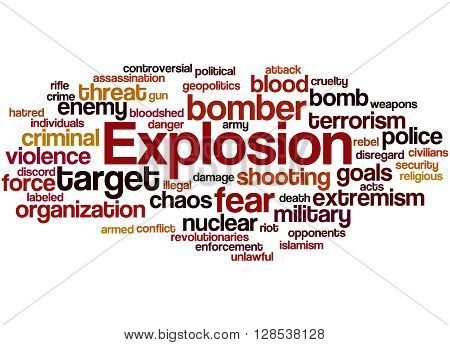 Explosion, Word Cloud Concept 9