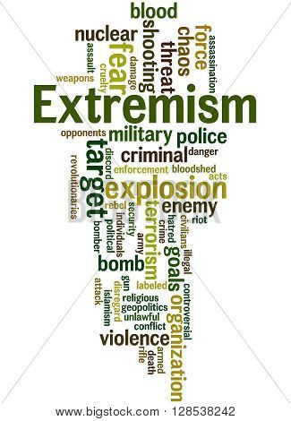 Extremism, Word Cloud Concept 9