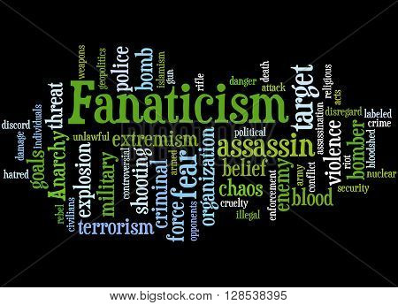 Fanaticism, Word Cloud Concept 4