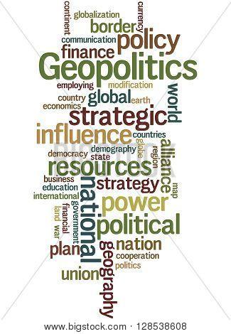 Geopolitics, Word Cloud Concept