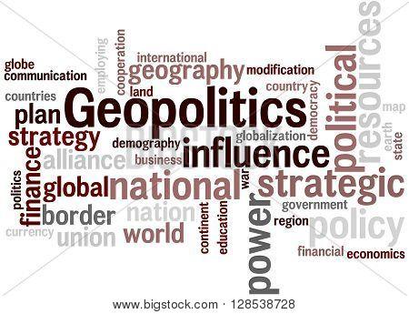 Geopolitics, Word Cloud Concept 8