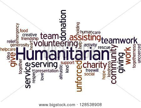 Humanitarian, Word Cloud Concept 2