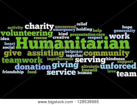 Humanitarian, Word Cloud Concept 4