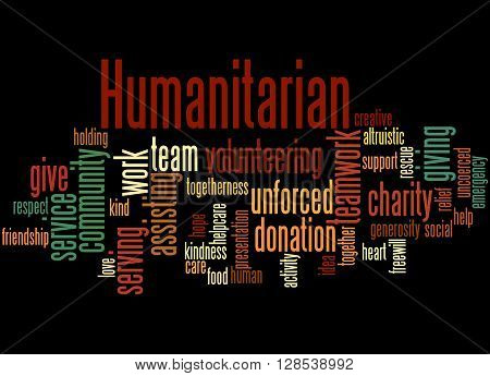 Humanitarian, Word Cloud Concept 6