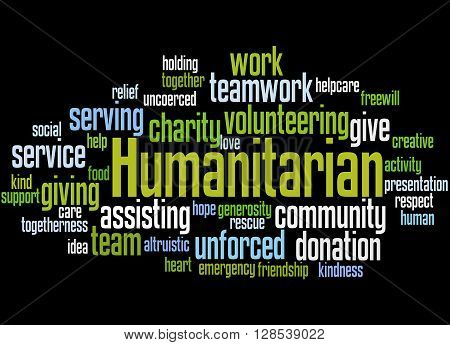 Humanitarian, Word Cloud Concept 8