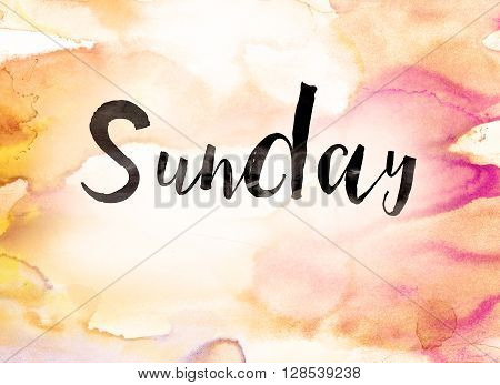 Sunday Concept Watercolor Theme