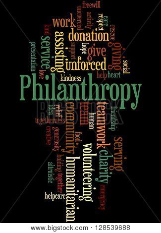 Philanthropy, Word Cloud Concept 7