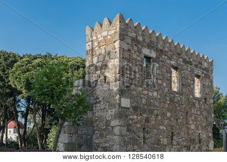 Ruins of castle in Kos Island town.