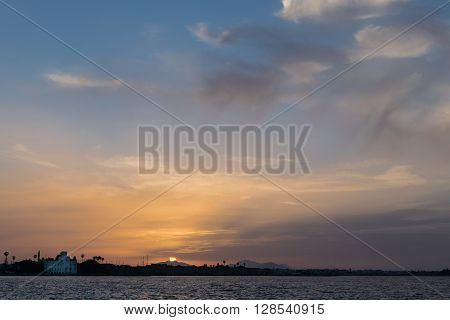 Courthouse of Kos Island, as seen during the sunset.
