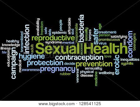 Sexual Health, Word Cloud Concept 7