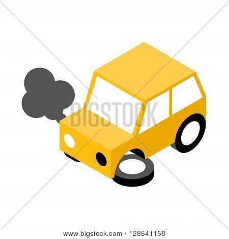 Car crash.Vector illustration. EPS 10. No transparency. No gradients.