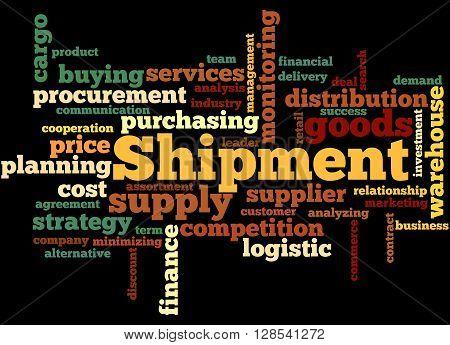 Shipment, Word Cloud Concept 10
