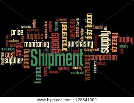 Shipment, Word Cloud Concept 3