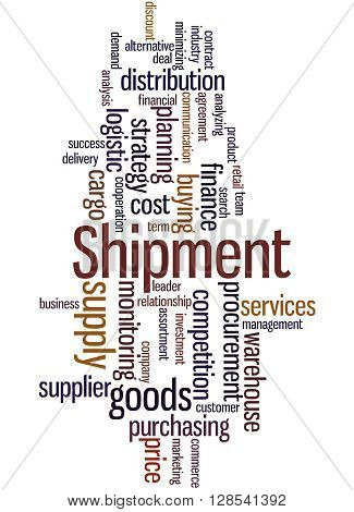 Shipment, Word Cloud Concept 7