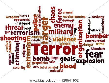 Terror, Word Cloud Concept