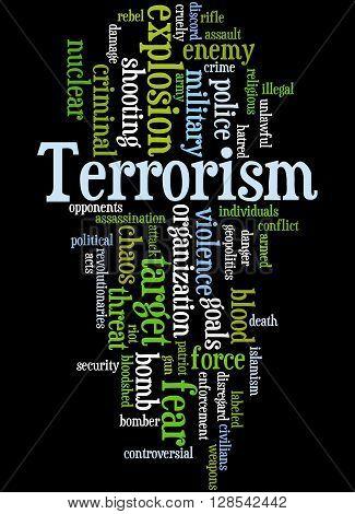 Terrorism, Word Cloud Concept 4