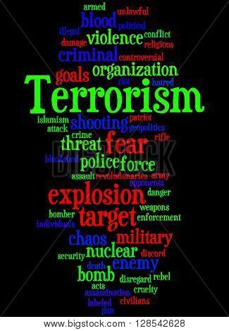 Terrorism, Word Cloud Concept 8