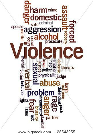 Violence, Word Cloud Concept 8
