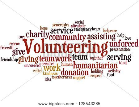 Volunteering, Word Cloud Concept