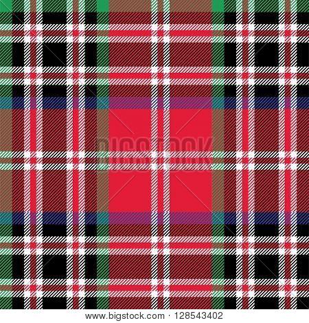 Kemp tartan fabric textile check pattern seamless.Vector illustration. EPS 10. No transparency. No gradients.