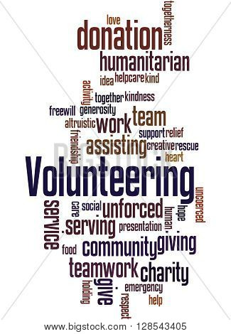 Volunteering, Word Cloud Concept 7