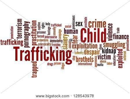 Child Trafficking, Word Cloud Concept