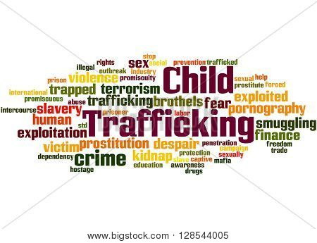 Child Trafficking, Word Cloud Concept 2