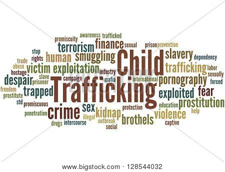 Child Trafficking, Word Cloud Concept 3