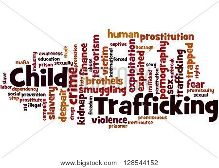 Child Trafficking, Word Cloud Concept 7