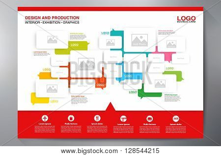 Exhibition Backdrop Displays Template for Print. Vector and Illustration.