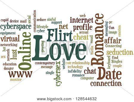 Date Love Romance Love Flirt Online, Word Cloud Concept 7
