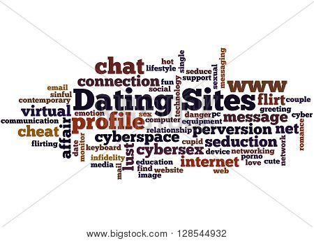 Dating Sites, Word Cloud Concept 7