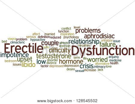 Erectile Dysfunction, Word Cloud Concept 4