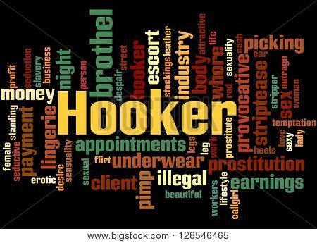 Hooker, Word Cloud Concept 5