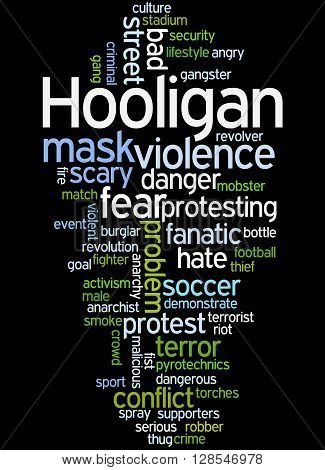 Hooligan Word Cloud, Word Cloud Concept 6