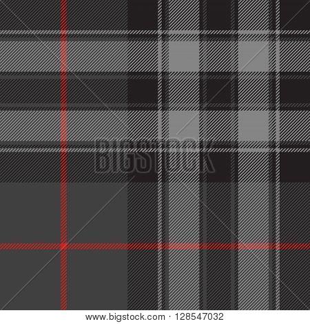 Pride of scotland silver tartan fabric texture seamless pattern .Vector illustration. EPS 10. No transparency. No gradients.