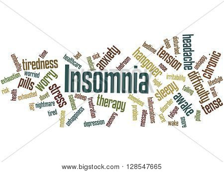 Insomnia, Word Cloud Concept 9