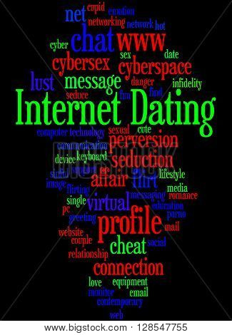 Internet Dating, Word Cloud Concept 5