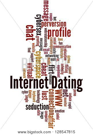 Internet Dating, Word Cloud Concept 8